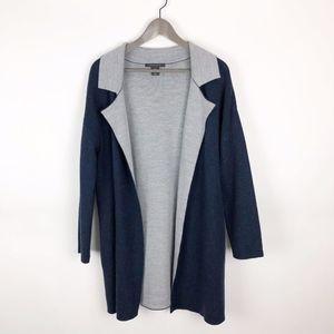 Tahari Merino Wool Open Front Cardigan Sweater